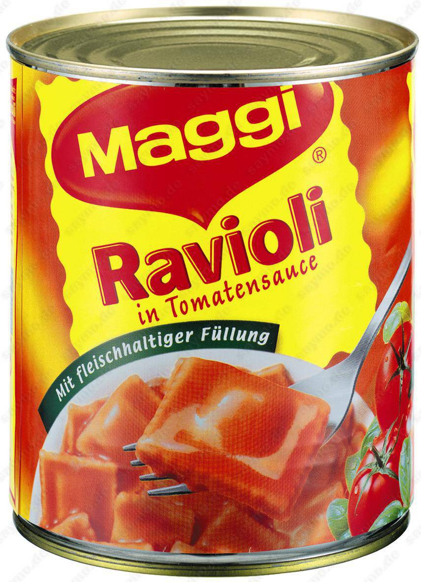 maggi ravioli tomatensauce 800g feinkost lebensmittel suppen fertigmenues maggi. Black Bedroom Furniture Sets. Home Design Ideas