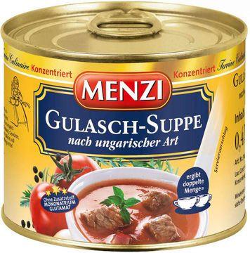 Menzi Ungarische Gulaschsuppe konzentriert ergibt 2L