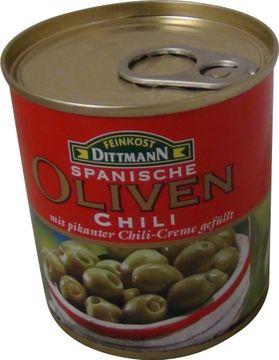 Dittmann Oliven grün Chilicreme 250g
