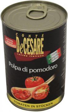 De Cesare Tomaten in Stücken + Basilikum + Oregano 400g