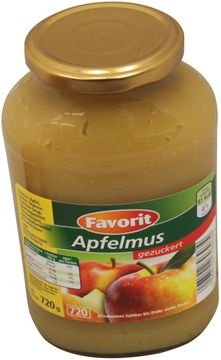 Favorit Apfelmus 720g