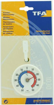 TFA Fenster-Thermometer weiss
