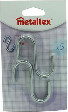 Metaltex S- Haken Metall 7cm 5 Stück