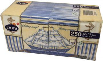Duni 250 Zelltuch Servietten Ahoi 33cm x 33cm