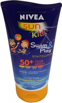 Nivea Sun Kids Swim + Play Schutz-Lotion LSF50 150ml – Bild 1