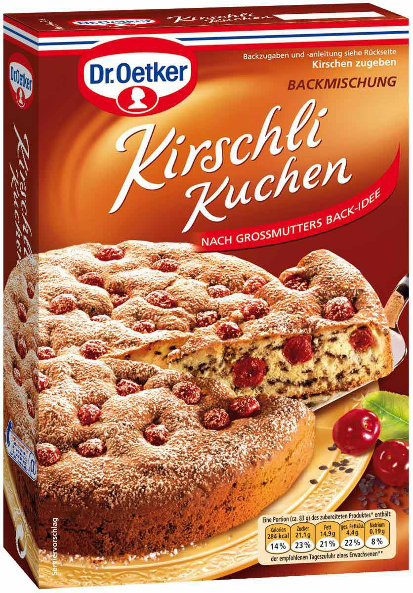 dr oetker kirschli kuchen backmischung 435g feinkost lebensmittel pudding backzutaten dr oetker. Black Bedroom Furniture Sets. Home Design Ideas