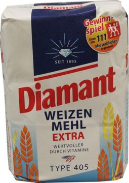 Diamant Weizen Mehl Extra Type 405 2,5kg – Bild 1