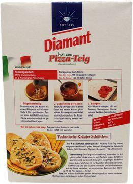 Diamant Pizza-Teig Grundmischung mit Sauce 385g – Bild 1
