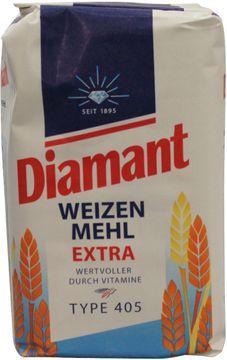 Diamant Weizen Mehl Extra Type 405 1kg – Bild 1