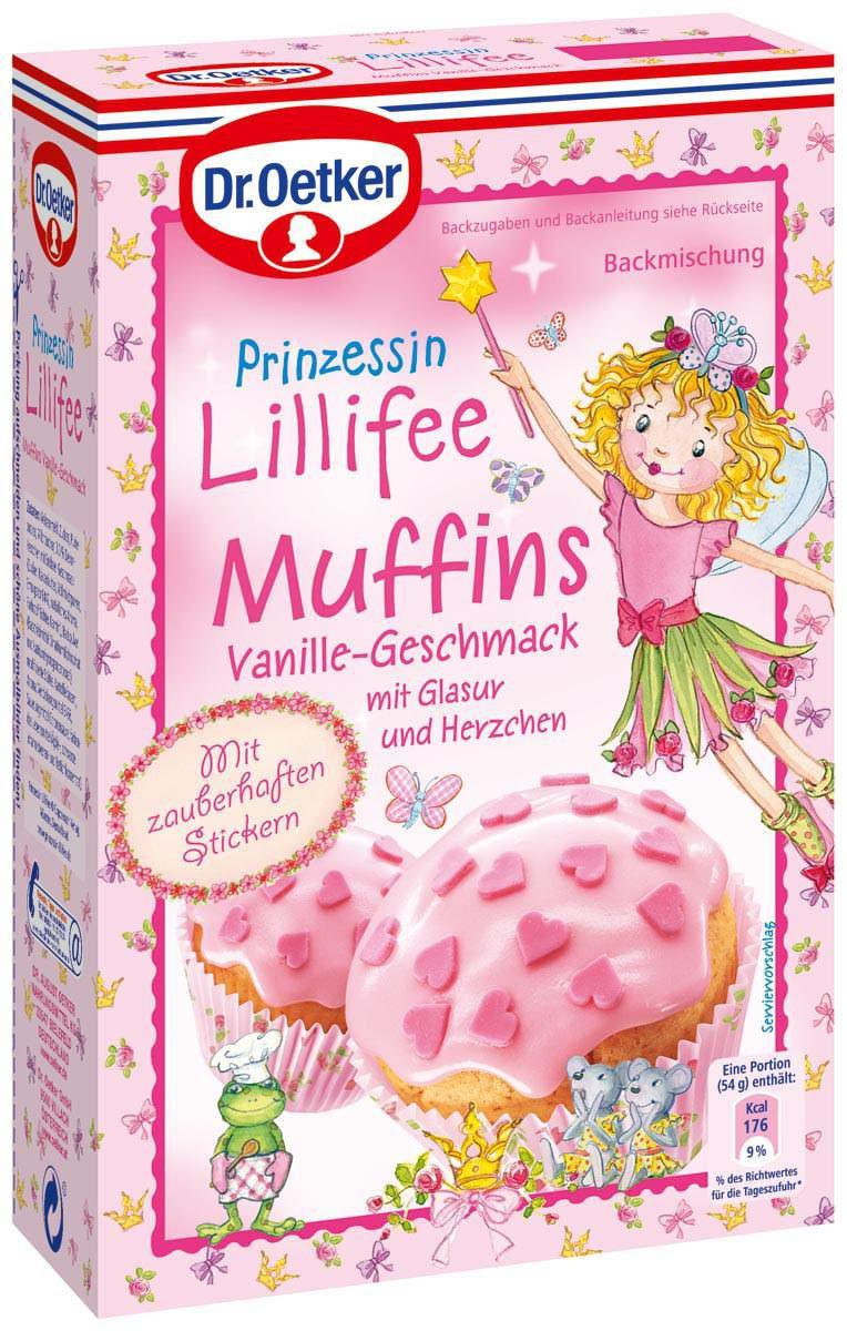 Dr. Oetker Prinzessin Lillifee Muffins Backmischung 397g Feinkost ...