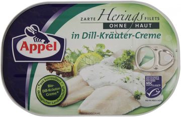 Appel Herings Filets in Dill-Kräuter-Creme 200g