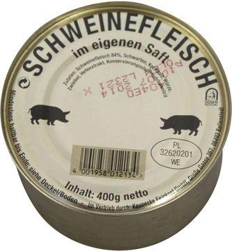 Schweinefleisch im eigenem Saft 400g