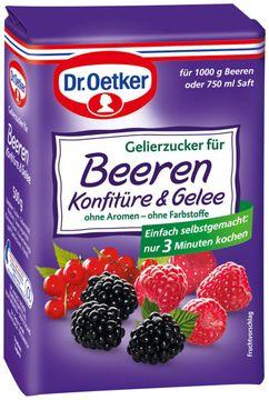 Dr. Oetker Gelierzucker für Beeren Konfitüre + Gelee 500g – Bild 1