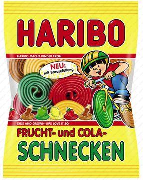 Haribo Frucht- und Cola- Schnecken 175g – Bild 1