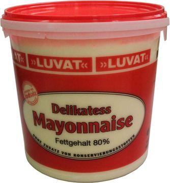 Luvat Delikatess Mayonnaise 80% 9kg – Bild 1