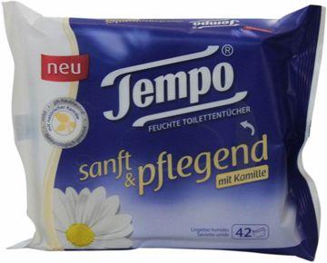 Tempo feuchte Toilettentücher sanft und pflegend Nachfüllbeutel 42er Pack – Bild 1