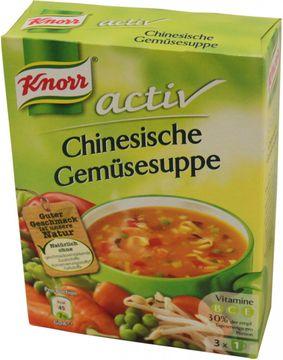 Knorr Active Chinesische Gemüsesuppe 3 Beutel ergibt 3 x 0,15L