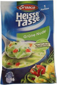 Erasco Heisse Tasse Grüne Nudel 1 Portion ergibt 200ml