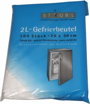 Strubl Gefrierbeutel 2L 20cm x 30cm 100 Stück