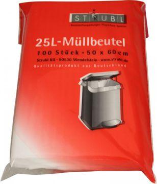 Strubl Müllbeutel 25L 50cm x 60cm 100 Stück