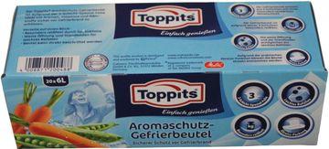 Toppits Aromaschutz-Gefrierbeutel 6L 20 Beutel – Bild 1