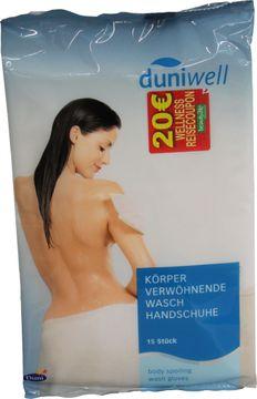 Duniwell Körper verwöhnende Wasch Handschuhe 15 Stück – Bild 1