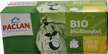Paclan Bio Müllbeutel kompostierbar 10L 15 Beutel  – Bild 1