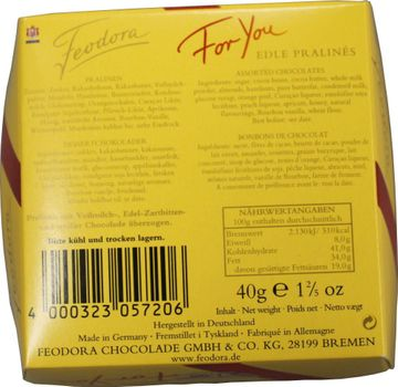 Feodora For you 4 edle Pralines 40g – Bild 2
