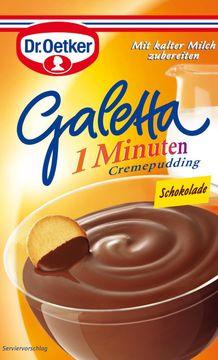 Dr. Oetker Galetta 1 Minuten Cremepudding-Pulver Schokolade 99g – Bild 1