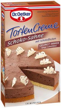 Dr. Oetker Torten Creme Schoko-Sahne  Cremepulver  – Bild 1