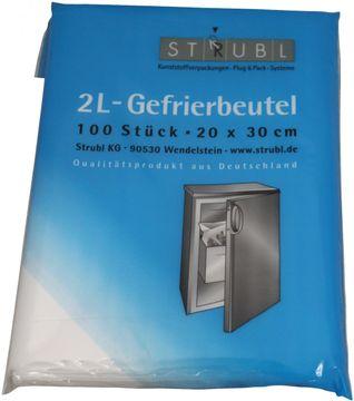 Strubl 2L-Gefrierbeuel 20cm x 30 cm 100 Beutel – Bild 1