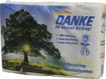 Danke 4 Recycling-Haushaltsrollen – Bild 1