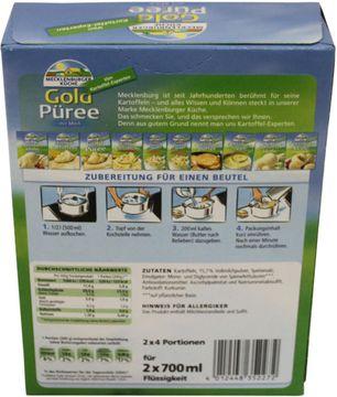 Mecklenburger Küche Gold Püree mit Milch 2 x 4 Portionen für 2x 700ml Flüssigkeit – Bild 2