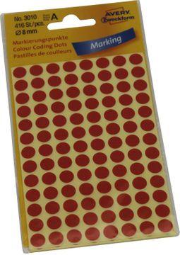 Avery Etiketten Markierungspunkte 8mm Rot 416 Stück