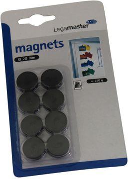 Legamaster Haftmagnet 20mm Schwarz 8 Stück