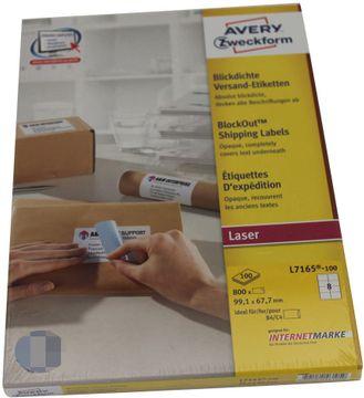 Avery Etiketten Adresse 99 1x67,7mm Laser