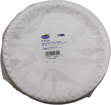 Duni 50 Teller weiß 22cm