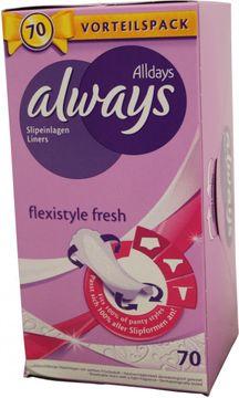 Always Slipeinlagen Flexistyle Fresh 70 Stück