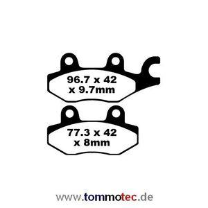 Bremsbeläge EBC FA 165/2 TT FA165/2TT Standard Bremsklötze hinten