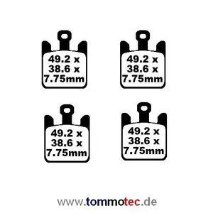 Bremsbeläge EBC FA 369/4 HH FA369/4 HH Sinter Bremsklötze – Bild 2