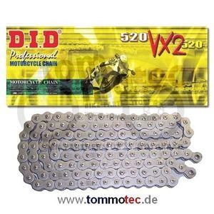 DID Kette 520 VX2 110 Glieder D.I.D X-Ring verstärkt B&B offen