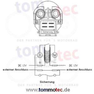 Anlasser Relais Honda XL 1000 V Varadero SD02 2003 - 2011 Magnetschalter Starterrelais – Bild 2