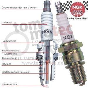 Zündkerze NGK BKR6E-11 Honda GL 1800 Goldwing SC47 SC68 2001 - 2012 – Bild 2