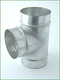 Ventilution T-Stück, Metall, für ø 150 mm