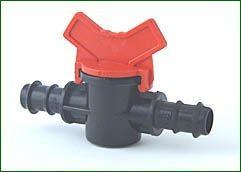 Absperrhahn, für 16 mm PE-Rohr