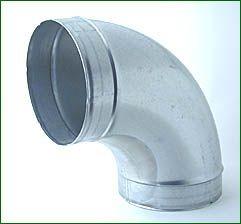 Bogenstück 90°, Metall, für ø 250 mm
