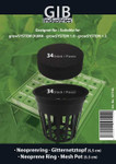 growTOOL Gitternetztopf-Set für GrowSystems von GrowTool  bestehend aus: 34 x Gitternetztopf, ø 5 cm (102937) 34 x Neoprenring (102936)
