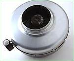 Chaysol IN-Line Ventilator, 700 m³/h, für 150 mm Rohr, rostfreier Stahl
