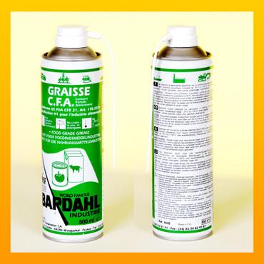 BARDAHL GRAISSE CFA BLANCHE Fettspray für die Nahrungsmittelindustrie -  Spray 500 ml – Bild 1
