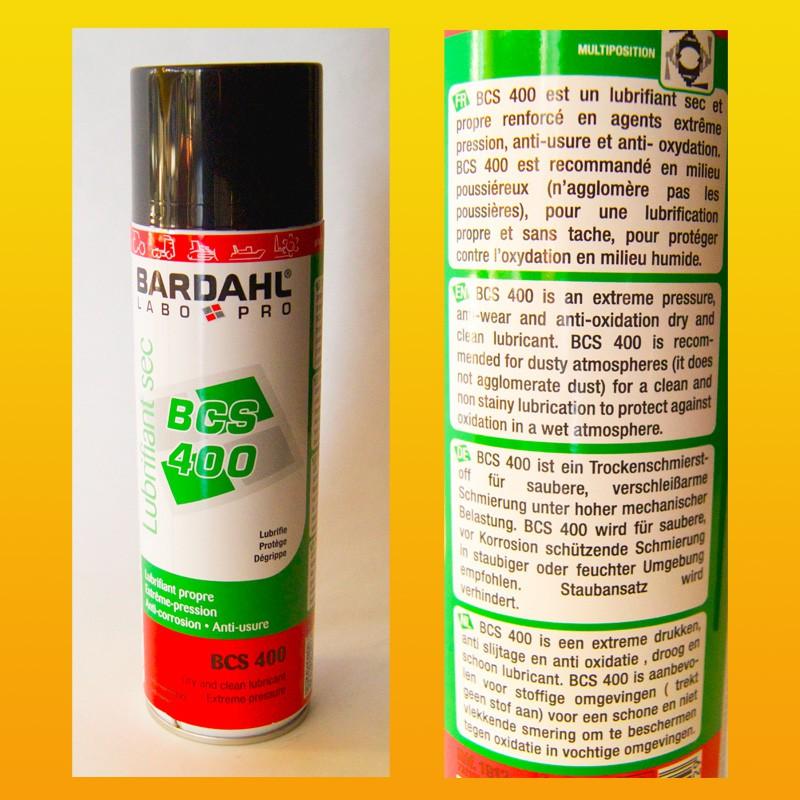 BARDAHL BCS 400 Trockenschmierstoff - Spraydose 500 ml